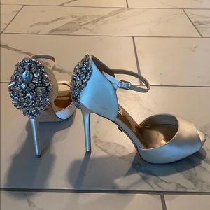 Badgley Mischka Dawn Embellished Peep-Toe Pumps